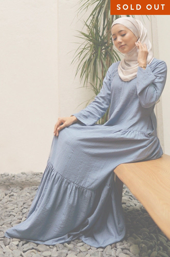 MILANI PLAIN DRESS (BLUE)