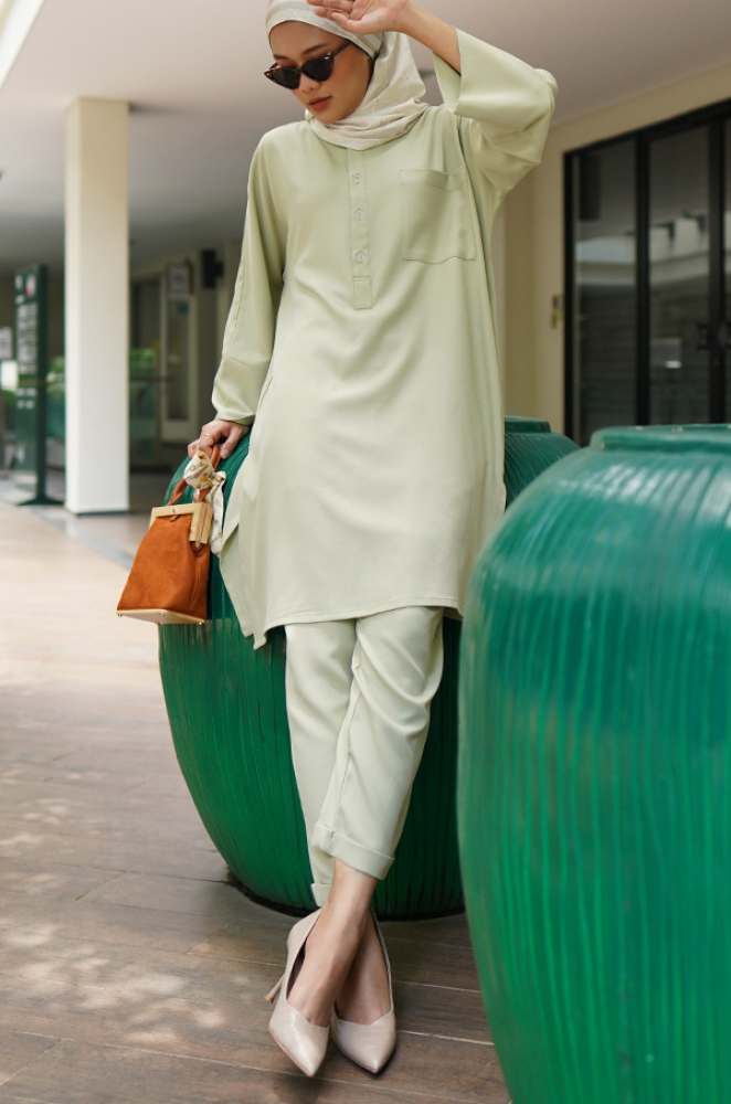 SELENA TUNIC SET (MINT GREEN)