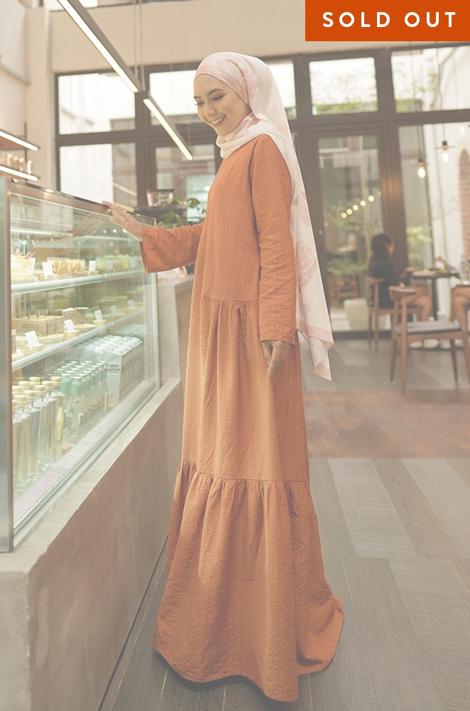 MILANI PLAIN DRESS (TERRACOTTA)