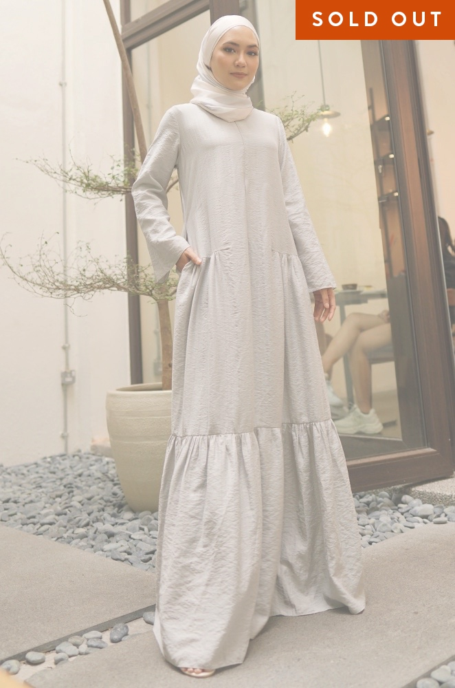 MILANI PLAIN DRESS (GREY)