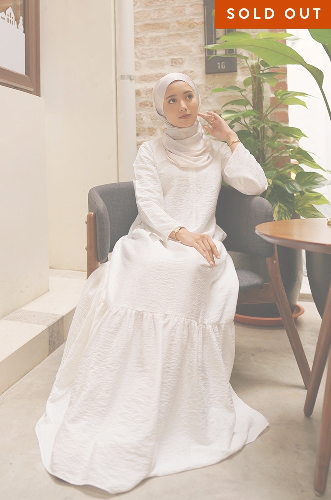 MILANI PLAIN DRESS (WHITE)